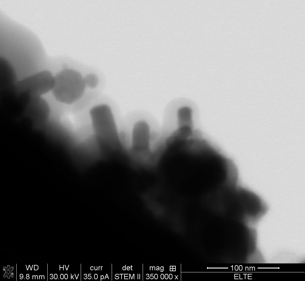 Bright-field STEM images of ZnO nanoparticles